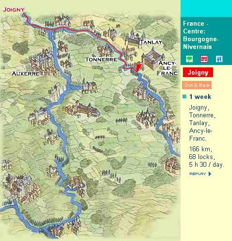 Map Of Yonne France.France Burgundy Loire And Nivernais Region Information Locaboat