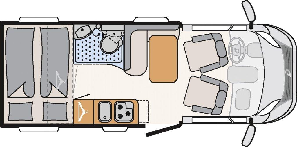 ccfc1e99a4 Compact Plus 2 Berth Campervan - McRent Motorhomes