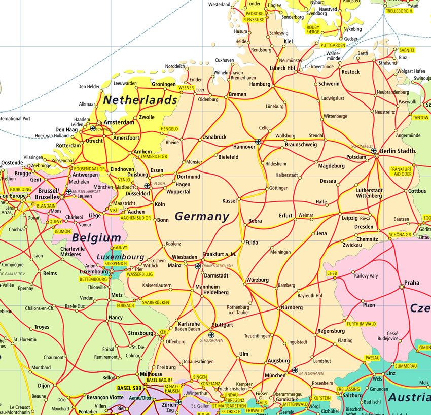 map of belgium and germany world map 07